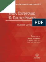 MANUAL CONTEMPORÁNEO DE DERECHOS HUMANOS. ÍNDICE Y PRIMERAS PÁGINAS.