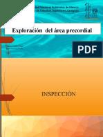 Inspección del área precordial completa