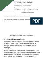 LES REACTIONS DE COMPLEXATION pdf
