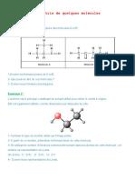 La Geometrie de Quelques Molecules Serie d Exercices 1 2 (1)