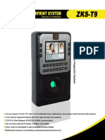 Manual Reloj Biometrico Fingerprint t9
