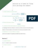 Le Modele de l Atome Corrige Serie d Exercices 1 1