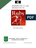 Ruby Gtk di Linux