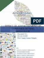 effect of advertisements on consumer behaviour