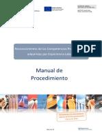 Manual de procedimiento. PEAC, Marzo 2021