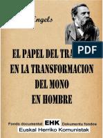 El papel de la transformacion del mono en hombre