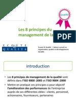 Les 8 principes du management de la qualité