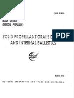 Solid Propellant Grain Design and Internal Ballistics by NASA 1972