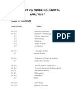 PROJECT ON WORKING CAPITAL ANALYSIS