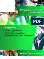 Money Laundering through the use of Cryptocurrency