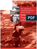 Deely, Sean (2003) Aid- Supporting or Undermining Recovery. Lessons from the Better Programming Initiative (IFRC) Geneva
