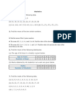 Measurements and Statistics Test