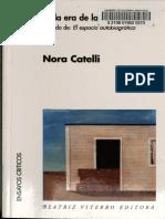 En la era de la intimidad-El espacio autobiografico - Nora Catelli
