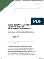 Como desativar Windows Update e impedir atualizações automáticas