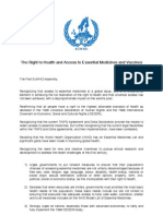 The Right to Health and Access to Essential Medicines and Vaccines