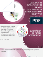 Métodos de Evaluación de Frases Descriptivas y Evaluación