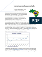 Brasil, de economía estrella a estrellada