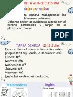 12 - 16 de Julio Actividades