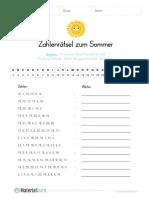 arbeitsblatt-sommer-zahlenraetsel