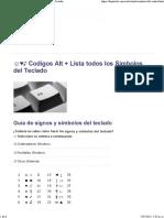 CODIGOS ALT+