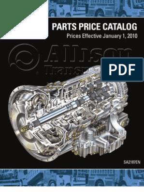 2010_Allison Parts Price List | Washer (Hardware) | Screw