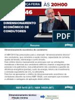 PDF - Live #046 - Dimensionamento Econômico de Condutores (1)