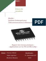 Rapport des TPs APPLICATIONS SUR LES PICs de Microchip