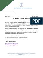 Aarti Daryani Project Certificate
