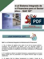 1. INTRODUCCION E IMPORTANCIA DEL USO DEL SIAF EN INSTITUCIONES PUBLICAS