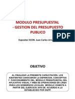 2. DESARROLLO MODULO PRESUPUESTAL - FEBRERO 2019 PRESUPUESTO PUBLICO ULTIMO