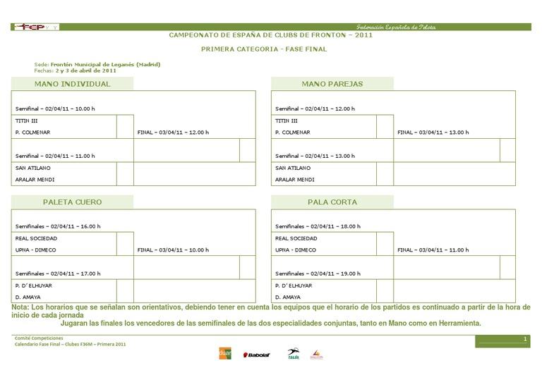 Calendario 2011 Espana.Calendario Final F36m Primera 2011