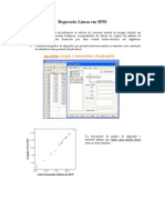 analise de regressão no spss