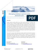 Managing employee expenses in the financial sector