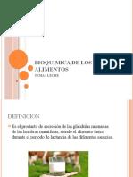 BIOQUIMICA DE LOS ALIMENTOS (LECHE)