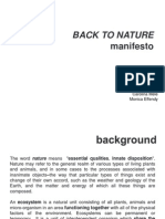 Back to Nature Manifesto