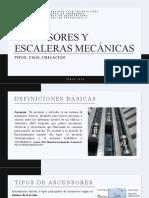 ASCENSORES Y ESCALERAS MECANICAS