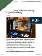 Arcade Bartop Software Anleitung - Leg and Brain Blog