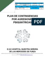 Plan de Contingencias Agresiones Psiquiatricas