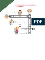 Crucigrama La Familia y Los Vegetales
