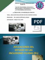 APLICACIONES DEL ESTUDIO DE INCLUSIONES FLUIDAS