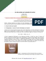 Actions Acides Sur Plomb Et Cuivre