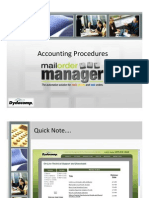 Accounting Processes in Dydacomp's Mulitchannel Order Manager