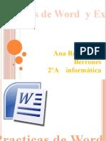 Practica de Excel y Wor