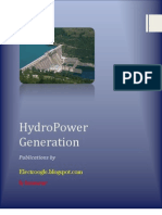Hydroelectric Power  Generation notes (publication by electroogle.blogspot.com)