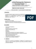 Directiva Nº 01 Convalidaciones y Validaciones 2021