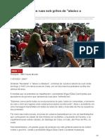 noticias.uol.com.br-Cubanos saem às ruas sob gritos de abaixo a ditadura