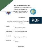 INFORME 01- ASOCIACIÓN DE ESPECIES