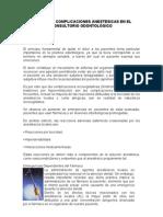 MANEJO DE COMPLICACIONES EN EL CONSULTORIO ODONTOLOGICO