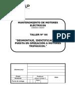 Desmontaje, identificación y puesta en operación a motores trifásicos.