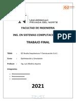 Examen Final de Optmización
